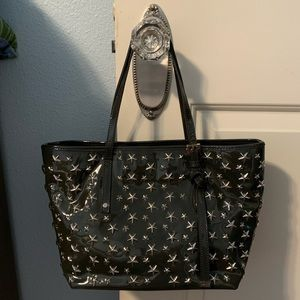 Jimmy Choo dark grey Star Sasha tote bag